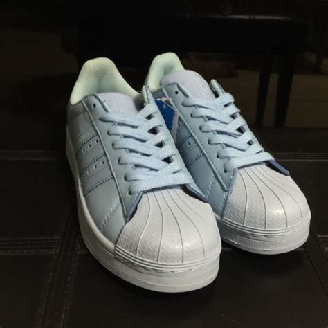 light blue adidas shoes adidas adidas superstar supercolor light blue shoes from