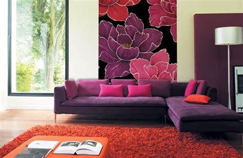 purple flower wallpaper for living room facelift to wall give new wall covering my decorative