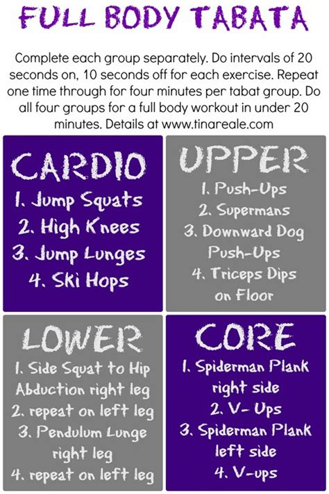 tabata workout weight only