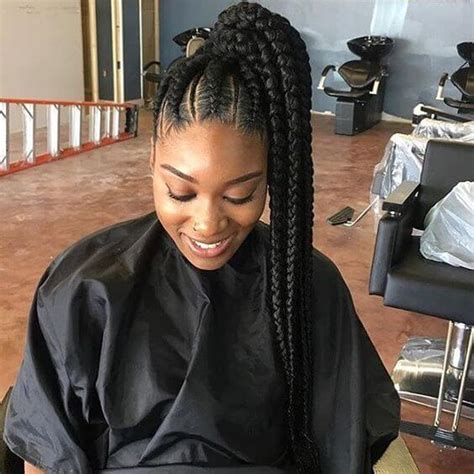big braids pony hair style 50 natural goddess braids to bless ethnic hair in 2018