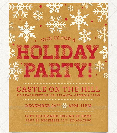 13 best photos of company holiday party flyer christmas