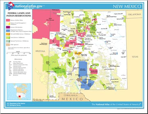 indian reservations usa map map of new mexico map federal lands and indian