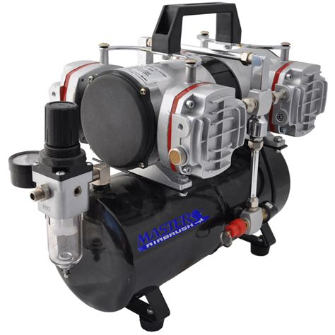 master airbrush tc 848 high performance 4 cylinder piston air compressor w tank