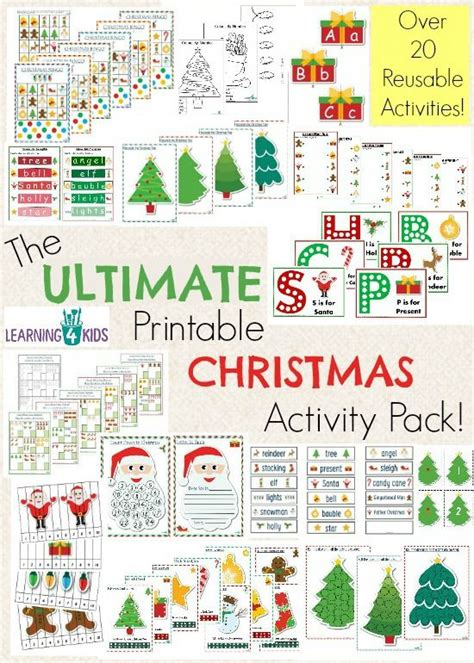 printable christmas counting games the ultimate christmas printable activity pack printable