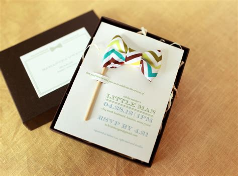 creative invitation little man bow tie inspired baby shower invitations