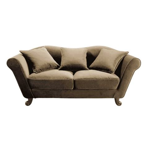 cotton sofas 3 seater cotton sofa in taupe baroque maisons du monde