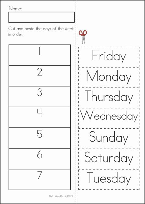 Days Of The Week Worksheet by Worksheet Days Of The Week Worksheet Kindergarten Review