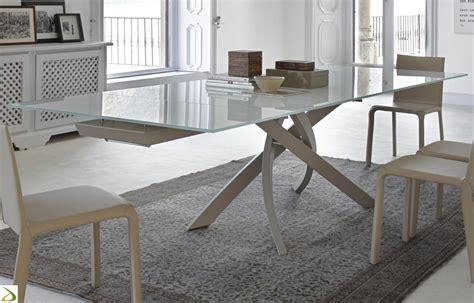 tavoli vetro design tavolo allungabile artistico di bontempi arredo design