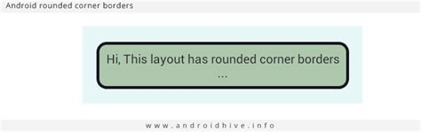 android layout corner radius how to add rounded corner borders to android layout
