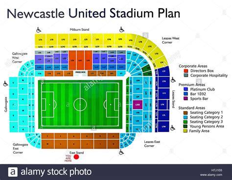 Stadium Plan newcastle united football ground stadium plan stock photo