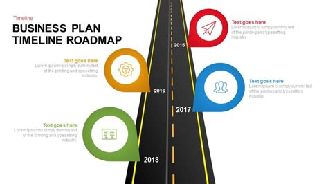 Business Plan Timeline Roadmap Keynote And Powerpoint Business Roadmap Template