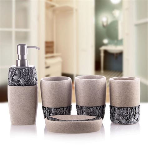 Luxury Bathroom Accessories Set Five Pieces Fangmu Bathroom Accessories Sets Luxury
