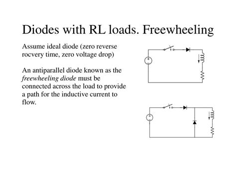 freewheeling diode current ppt diodes with rl loads freewheeling powerpoint presentation id 754286