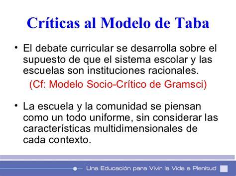 Criticas Al Modelo Curricular De Hilda Taba Modelos De Planificacion Curricular