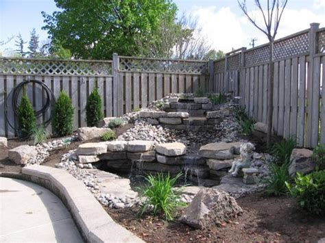 waterfall for backyard backyard waterfall doityourself com