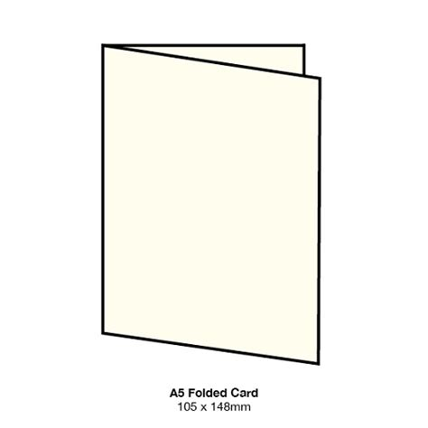 a5 folded card template marshmallow a5 folded card 261gsm warm ivory