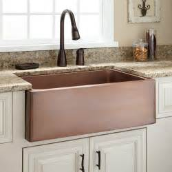 farm sink kitchen 30 quot kembla copper farmhouse sink kitchen