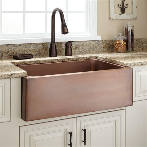 white kitchen with copper and wood accessories color scheme 30 quot kembla copper farmhouse sink for the farm