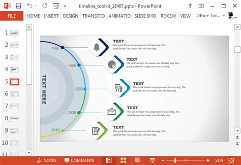 Animated Timeline Maker Template For Powerpoint Animated Timeline Maker