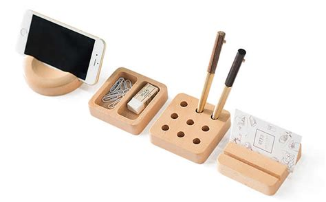 Wooden Modular Desk Organizers Feelgift Modular Desk Organizer