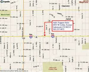 lakewood colorado map a a toppers sales and service in lakewood and littleton