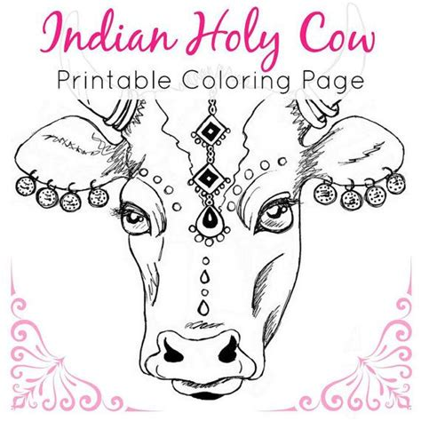 india animals coloring pages animal coloring page indian holy cow coloring