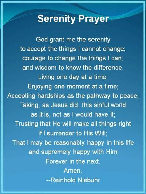 serenity prayer full version uniting caregivers