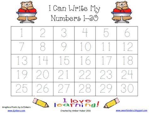 writing numbers 1 30 printable tracing numbers worksheets 5