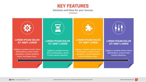 key features of the layout of a letter adora multipurpose powerpoint template by kh2838
