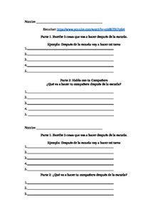 Ir A Infinitive Practice Worksheet