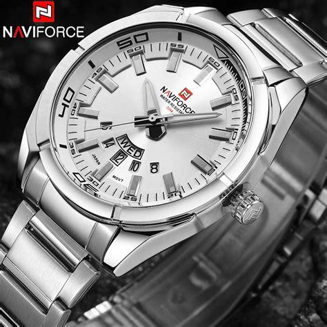 Naviforce Rantai Nf9038 Silverwhite naviforce nf9038 sport quartz stainless steel