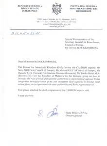 Invitation Letter Mofa Committee Of Ministers Ad Hoc Committee Of Experts On Roma Issues Cahrom Thematic Report