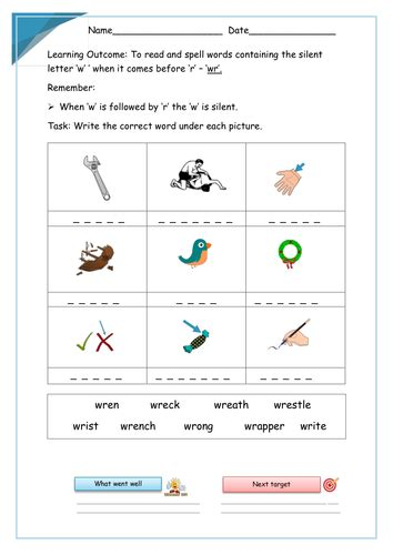 wr words spelling activity by pianocookie teaching