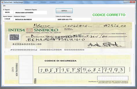 banca trattaria assegno sicurezza assegni