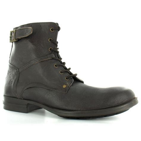 bronx mens boots bronx 43394 mens leather 7 eylet zip high ankle boots