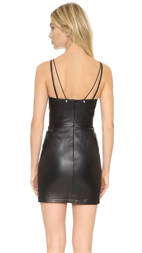 Mini Leather Dress versus leather mini dress in black lyst
