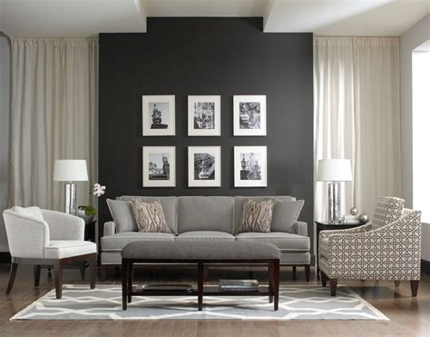gray accent wall libby langdon upholstery furniture for braxton culler