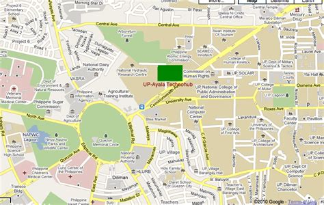 road map of quezon city infoholics how to get to up ayala technohub