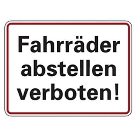 Fahrrad Aufkleber Auf Rechnung by Hinweiszeichen Quot Fahrr 228 Der Abstellen Verboten Quot Aufkleber