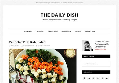 Daily Dish by 20 Best New Food Themes For 2017