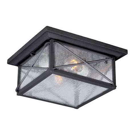 flush mount ceiling light seeded glass wingate textured black two light outdoor flush mount with