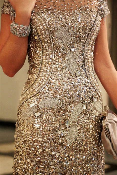 Design Dress With Beads | times of heart shinning golden beads dress design for ladies