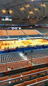 Section 212 E by Carrier Dome Section 212 Row E Seat 12 Syracuse Orange