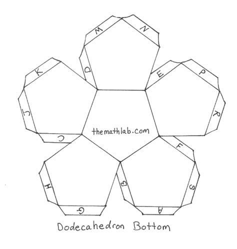 dodecahedron template dodecahedron net with tabs www pixshark images