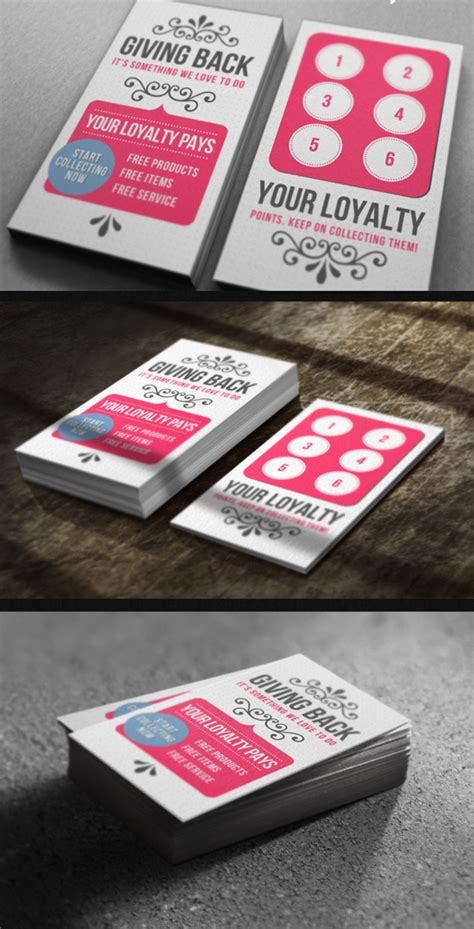 business loyalty cards templates top 10 photoshop psd loyalty card templates