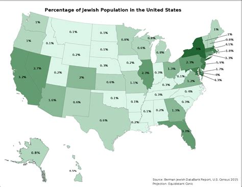 how many towns are in the us file jewish percentage population united states svg