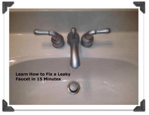 How To Fix A Faucet by How To Repair A Leaky Bathroom Faucet Homemd Biz