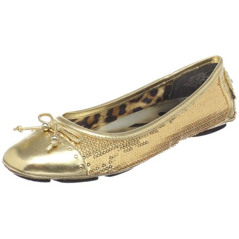 Flat Shoe Gold Flat Shoes For