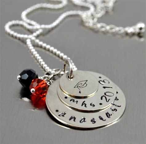 jewelry schools personalized graduation necklace senior necklace class of
