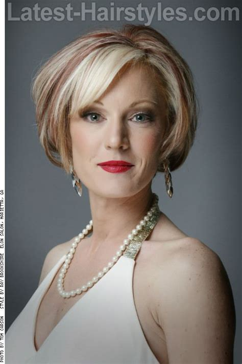 k mitchell short hairstyles with a soft bang 17 best images about hairstyles on pinterest bob bangs